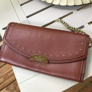Authentic Kate Spade Pebbled leather studs clutch